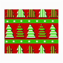 Christmas trees pattern Small Glasses Cloth (2-Side)