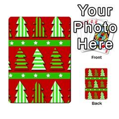 Christmas Trees Pattern Multi Purpose Cards (rectangle)
