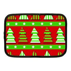 Christmas trees pattern Netbook Case (Medium)