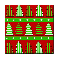 Christmas trees pattern Face Towel