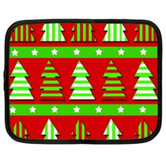Christmas trees pattern Netbook Case (XL)