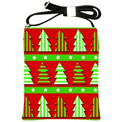 Christmas trees pattern Shoulder Sling Bags