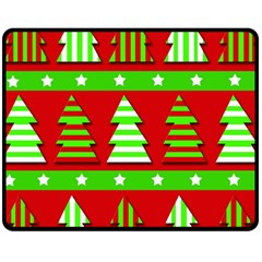 Christmas trees pattern Fleece Blanket (Medium)