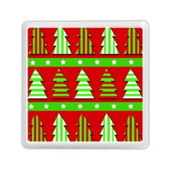 Christmas trees pattern Memory Card Reader (Square)
