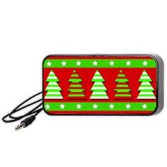 Christmas trees pattern Portable Speaker (Black)