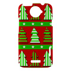 Christmas trees pattern HTC One X Hardshell Case