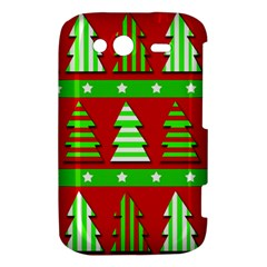 Christmas trees pattern HTC Wildfire S A510e Hardshell Case