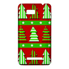 Christmas trees pattern HTC One SU T528W Hardshell Case