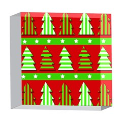 Christmas trees pattern 5  x 5  Acrylic Photo Blocks