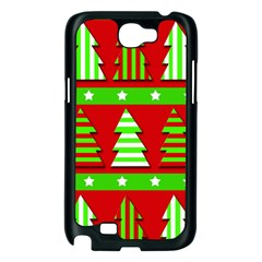 Christmas trees pattern Samsung Galaxy Note 2 Case (Black)