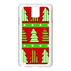 Christmas trees pattern Samsung Galaxy Note 3 N9005 Case (White)