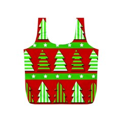 Christmas trees pattern Full Print Recycle Bags (S)