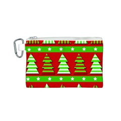 Christmas trees pattern Canvas Cosmetic Bag (S)