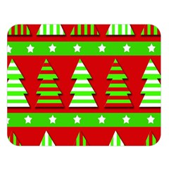 Christmas trees pattern Double Sided Flano Blanket (Large)