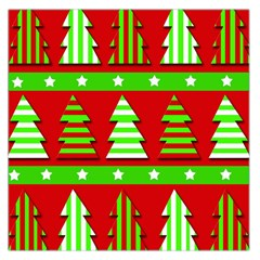 Christmas trees pattern Large Satin Scarf (Square)