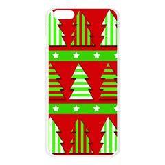 Christmas trees pattern Apple Seamless iPhone 6 Plus/6S Plus Case (Transparent)