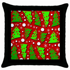Twisted Christmas trees Throw Pillow Case (Black)