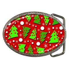 Twisted Christmas trees Belt Buckles