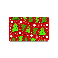Twisted Christmas Trees Magnet (name Card)
