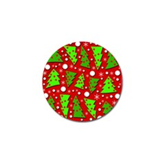 Twisted Christmas trees Golf Ball Marker