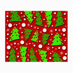 Twisted Christmas trees Small Glasses Cloth