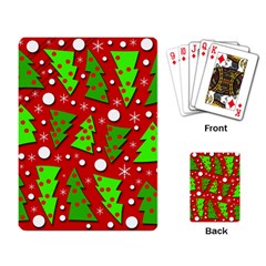 Twisted Christmas trees Playing Card