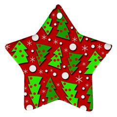 Twisted Christmas trees Star Ornament (Two Sides)