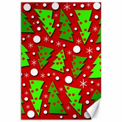 Twisted Christmas trees Canvas 12  x 18