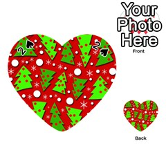 Twisted Christmas trees Playing Cards 54 (Heart)