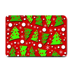 Twisted Christmas trees Small Doormat