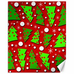 Twisted Christmas trees Canvas 11  x 14