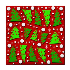 Twisted Christmas trees Face Towel
