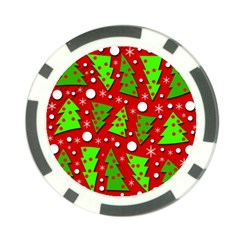 Twisted Christmas trees Poker Chip Card Guards (10 pack)