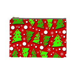 Twisted Christmas trees Cosmetic Bag (Large)
