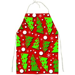 Twisted Christmas trees Full Print Aprons