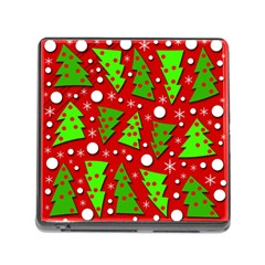 Twisted Christmas Trees Memory Card Reader (square)