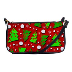 Twisted Christmas trees Shoulder Clutch Bags