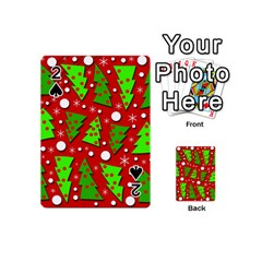 Twisted Christmas trees Playing Cards 54 (Mini)