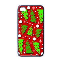 Twisted Christmas trees Apple iPhone 4 Case (Black)