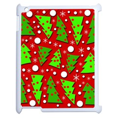 Twisted Christmas trees Apple iPad 2 Case (White)