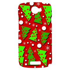 Twisted Christmas trees HTC One S Hardshell Case