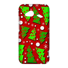Twisted Christmas trees HTC Droid Incredible 4G LTE Hardshell Case
