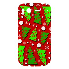 Twisted Christmas trees HTC Desire S Hardshell Case