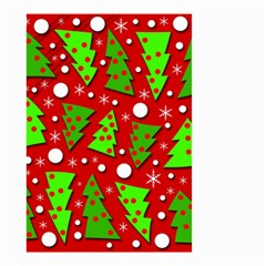 Twisted Christmas trees Small Garden Flag (Two Sides)