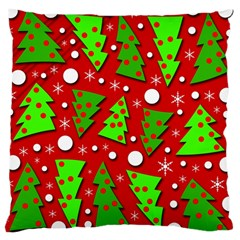 Twisted Christmas trees Large Cushion Case (Two Sides)