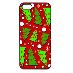 Twisted Christmas trees Apple iPhone 5 Seamless Case (Black)
