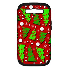 Twisted Christmas trees Samsung Galaxy S III Hardshell Case (PC+Silicone)