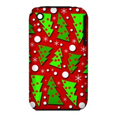 Twisted Christmas trees Apple iPhone 3G/3GS Hardshell Case (PC+Silicone)
