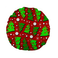 Twisted Christmas trees Standard 15  Premium Round Cushions
