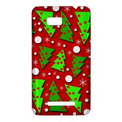 Twisted Christmas trees HTC One SU T528W Hardshell Case